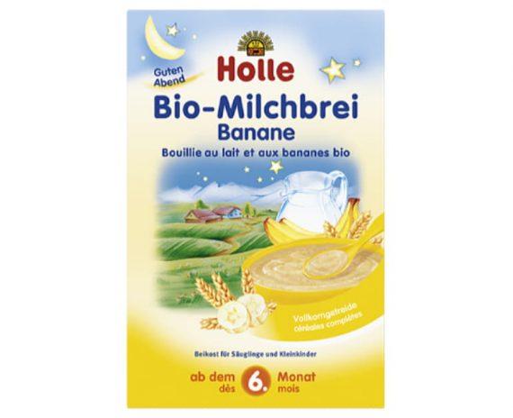 Παιδική κρέμα μπανάνα και γάλα από 6 μηνών Holle 250gr