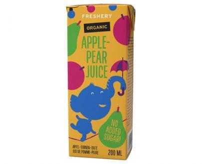 Βιολογικός χυμός μήλο-αχλάδι χωρίς ζάχαρη Freshery 200ml
