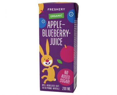 Βιολογικός χυμός μήλο-μύρτιλο χωρίς ζάχαρη Freshery 200ml