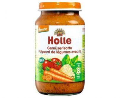 Ριζότο με λαχανικά σε βάζο Holle 220gr