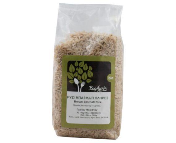 Ρύζι Μπασμάτι Πλήρες 500gr ΒιοΑγρός
