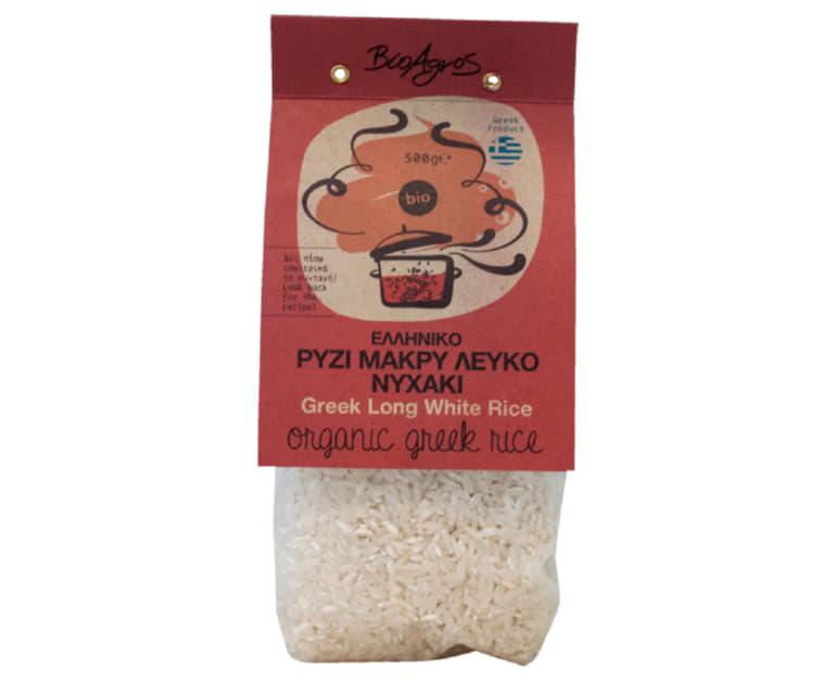 Ρύζι Νυχάκι λευκό 500gr ΒιοΑγρός