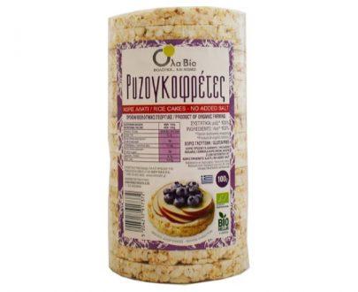 Ρυζογκοφρέτες χωρίς αλάτι 100gr Όλα Bio