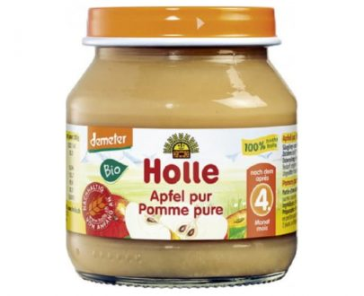 100% Μήλο σε βάζο 125gr Holle