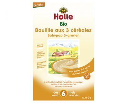 Παιδική κρέμα ρύζι-καλαμπόκι-κεχρί από 6 μηνών Holle 250gr