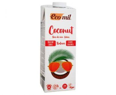 Ρόφημα Καρύδας Φυσικό χωρίς ζάχαρη 1lt Ecomil
