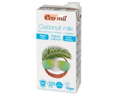 Ρόφημα Καρύδας με Ασβέστιο χωρίς ζάχαρη 1lt Ecomil
